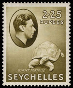 Seychelles 1938-49 2r25 olive tortoise chalky paper lightly mounted mint.