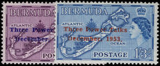 Bermuda 1953 Three Power Talks 1st setting unmounted mint.