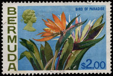 Bermuda 1970 $2 Bird of Paradise flower fine used.