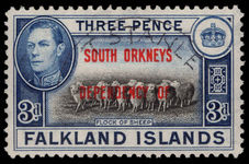 South Orkneys 1944-45 3d fine used.