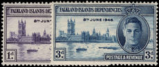 Falkland Island Dependencies 1946 Victory lightly mounted mint.