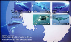 Ross Dependency 2010 Whales of the Southern Ocean First Day Cover.
