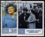 South Georgia 1990 90th Birthday of Queen Elizabeth the Queen Mother fine used.