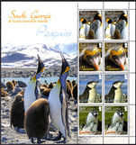 South Georgia 2010 South Georgia Penguins souvenir sheet unmounted mint.