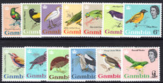 Gambia 1963 Birds unmounted mint.