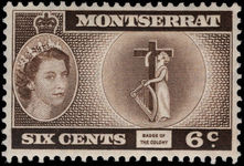 Montserrat 1953-62 6c Colony unmounted mint.