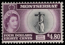 Montserrat 1953-62 $4.80 Colony unmounted mint.