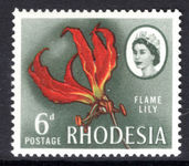 Rhodesia 1966-68 6d brown gum supreme Chromo paper unmounted mint.