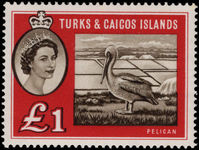 Turks & Caicos Islands 1960 Brown Pelican lightly mounted mint.