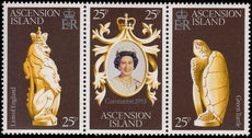 Ascension 1978 Coronation Anniversary strip unmounted mint.