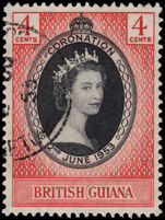 British Guiana 1953 Coronation fine used.