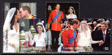Cayman Islands 2011 Royal Wedding unmounted mint.