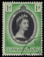 Cayman Islands 1953 Coronation fine used.