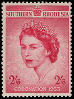 Southern Rhodesia 1953 Coronation lightly mounted mint.