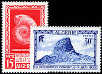 Algeria 1952 International Geological Congress lightly mounted mint.