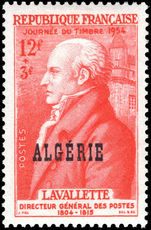 Algeria 1954 Stamp Day lightly mounted mint.