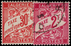Algeria 1942 30c lightly mounted mint and 2f fine used postage dues.