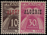 Algeria 1947 Postage Dues lightly mounted mint.