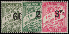 Algeria 1927 Postage Due provisional set lightly mounted mint.