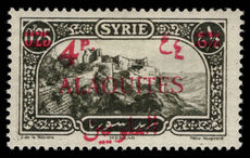 Alaouites 1926 (Sept) 4p on 0p.25 type II fine lightly mounted mint.