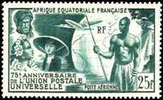 French Equatorial Africa 1949 UPU fine lightly mounted mint.