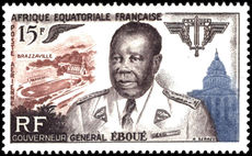 French Equatorial Africa 1955 Eboue fine lightly mounted mint.