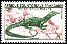 French Equatorial Africa 1955 Nature Protection fine lightly mounted mint.