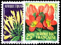 French Equatorial Africa 1958 Flowers unmounted mint.