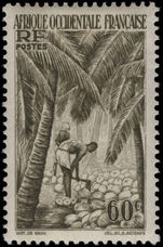 French West Africa 1948 60c Coconuts without Togo imprint lightly mounted mint.