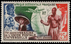 French West Africa 1949 UPU lightly mounted mint.