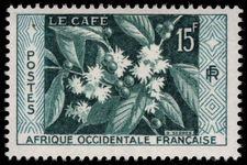 French West Africa 1956 Coffee lightly mounted mint.