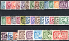 Indo-China 1931-41 set mixed mint and fine used.