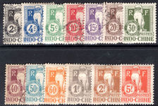 Indo-China 1908 Postage Due set mixed lightly mounted mint and fine used.