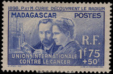 Madagascar 1938 Anti-cancer fine lightly mounted mint.