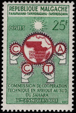 Malagasy 1960 African Technical Co-operation fine lightly mounted mint.