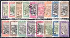 Madagascar 1908-17 set mixed fine used and lightly hinged. (2c 4c 30c 45c 50c 1f 5f lightly hinged).