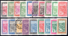 Madagascar 1922-28 set mixed fine used and lightly hinged. (15c 30c (2) 45c (both) 50c 60c to 1f10 lightly hinged).