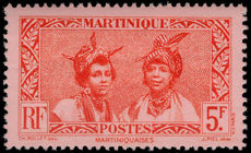 Martinique 1933-40 5f scarlet and rose fine lightly mounted mint.