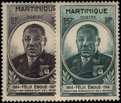 Martinique 1945 Eboue fine lightly mounted mint.