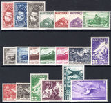 Martinique 1947 set fine lightly mounted mint.