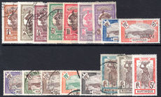 Martinique 1908-17 set fine used (15c, 25c, 30c, 75c and 5f fine lightly mounted mint).