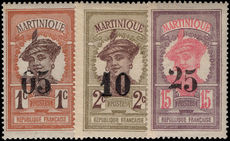 Martinique 1920 provisionals fine lightly mounted mint.