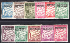 Martinique 1927 Postage Due set fine lightly mounted mint.