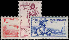 Martinique 1941 Empire Defence fine lightly mounted mint.