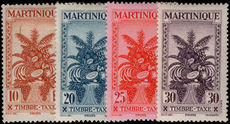 Martinique 1943 Vichy postage due set fine lightly mounted mint.