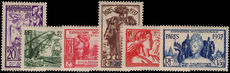 New Caledonia 1937 International Exhibition fine lightly mounted mint.