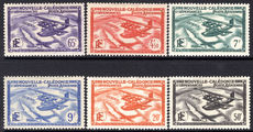 New Caledonia 1938-40 Air set fine lightly mounted mint.