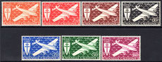 New Caledonia 1942 Free French air set fine lightly mounted mint.