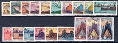 New Caledonia 1948 mixed lightly mounted mint and fine used.