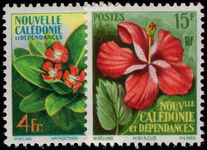 New Caledonia 1958 Flowers fine lightly mounted mint.